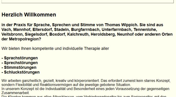"""Restart der Webseite """"Kompetenz in Stimme"""" – Thomas Wippich"""