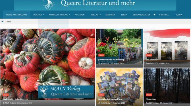 Main-Verlag, Frankfurt – Shopsystem eingerichtet